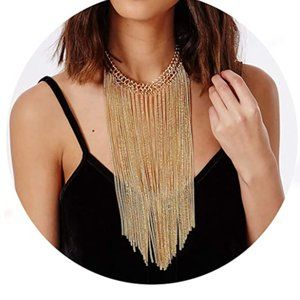 Tassel Choker Necklace Jewelry Gold Necklaces